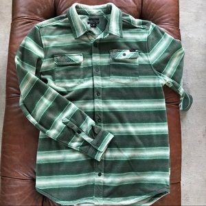 O'Neill Fleece Blanket Stripe Snap Front Shirt
